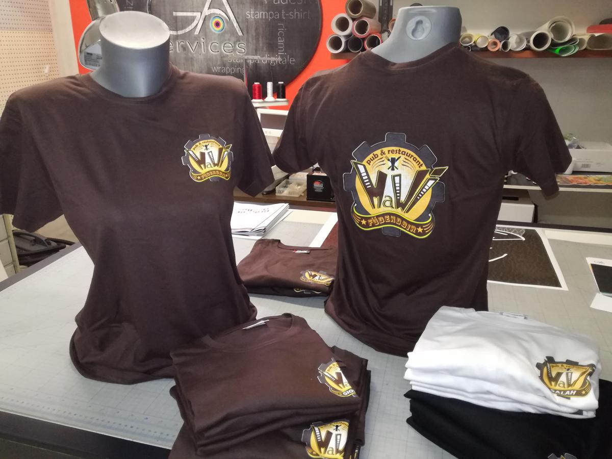 Cliente: Mawi Pub - Stampa diretta su t-shirt Clique per staff